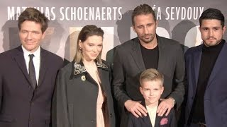Lea Seydoux, Matthias Schoenaerts and rest of the cast at the premiere of KURSK at Cite du Cinema in
