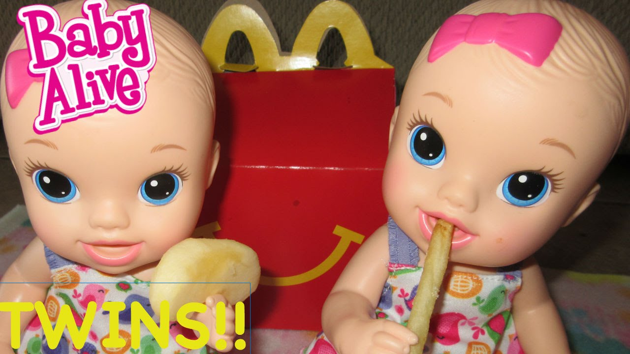 Baby Alive Twins Go To Mcdonalds Shopkins For Baby Alive
