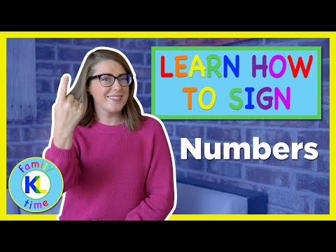 Learn How to Sign Numbers in ASL | K&L Sign Time