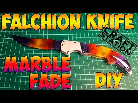 How make Falchion knife Marble Fade from CS:GO DIY with templates