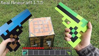 Minecraft In Real Life! Minecraft Vs Real Life Animation Challenge