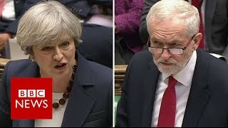 PMQs: May and Corbyn set out election 'choices' - BBC News