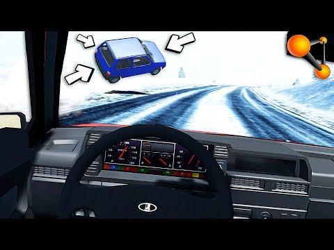 Аварии с ВИДЕОРЕГИСТРАТОРА - Толик не справился с управлением! BeamNG Drive