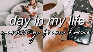PRODUCTIVE DAY IN MY LIFE as a work from home marketing intern + youtuber | zoom calls, Feat, + more