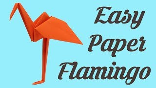 Origami for kids - Flamingo, Simple Easy Basic Origami for Beginners Paper Crafts DIY Ideas Art
