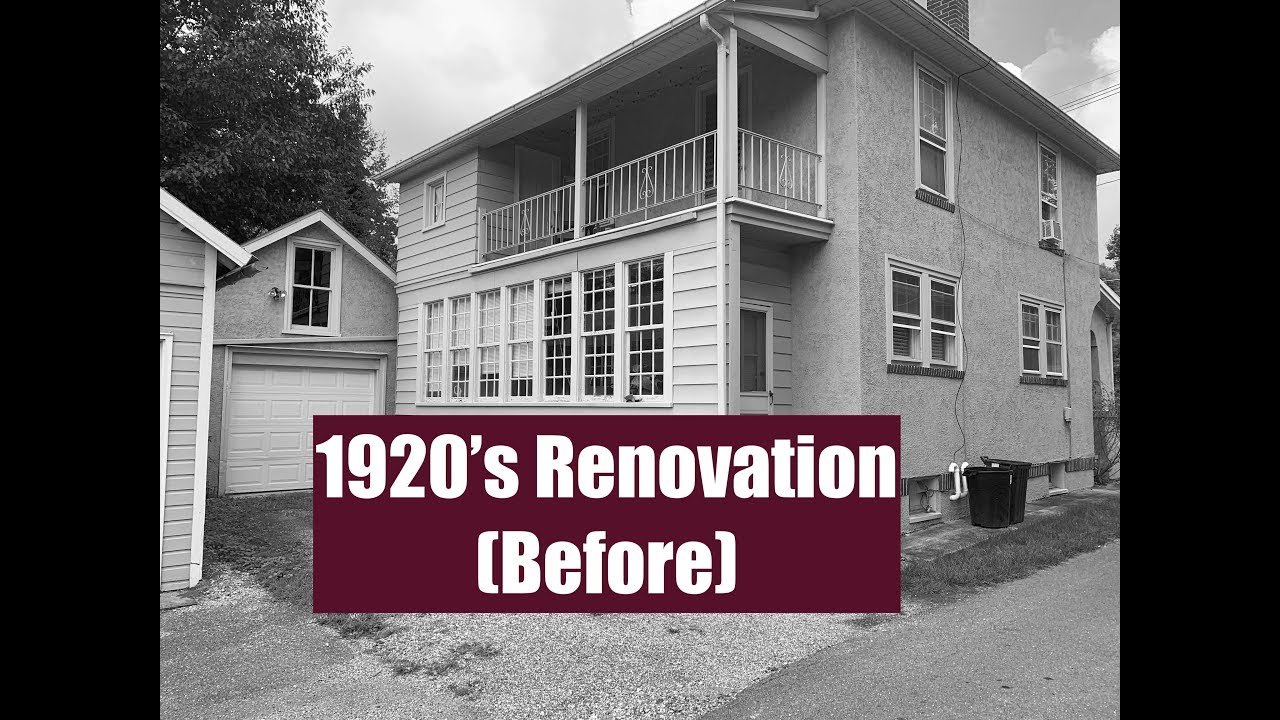 Before Renovation - 1920's Sunroom renovated into Mud Room Entry and Laundry Room