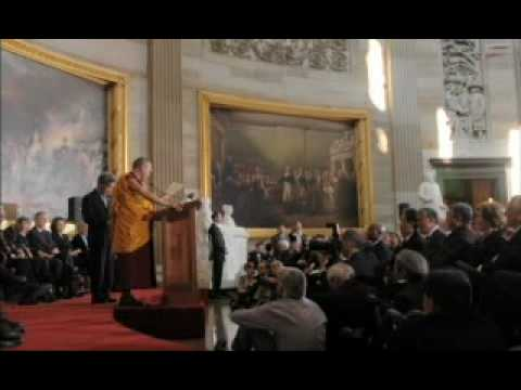 Long - U.S. Congressional Gold Medal Ceremony - Dalai Lama