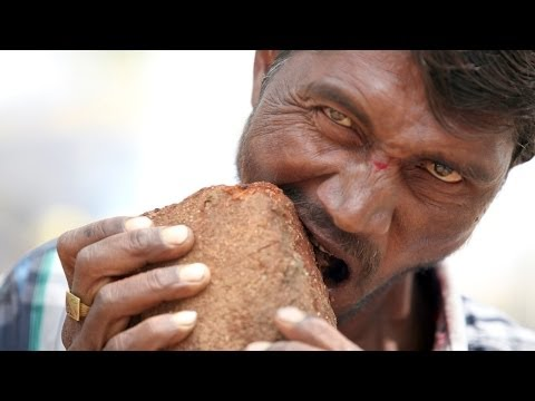 Man Addicted To Eating Bricks, Mud And Gravel