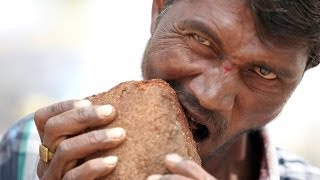 Man Addicted To Eating Bricks, Mud and Gravel