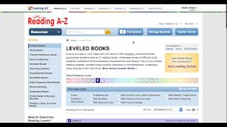 Reading A Z Tutorial for Educators