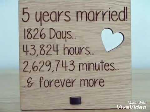 Happy 5th wedding anniversary - YouTube