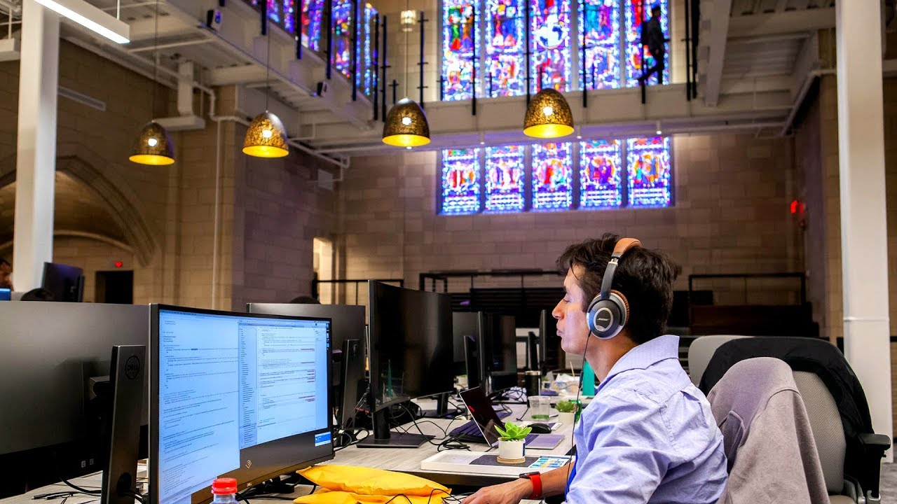 Amazon Audible Voice Over Jobs Abandoned Church Reborn As Audible Innovation Cathedral