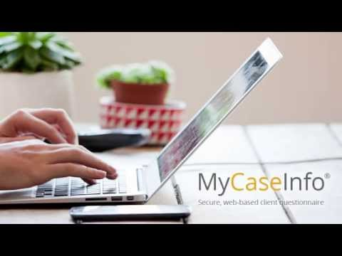 MyCaseInfo - Secure, web-based bankruptcy client questionnaire