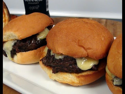 St. Patrick's Day Sliders - Guinness Braised Short Ribs with Irish Cheddar