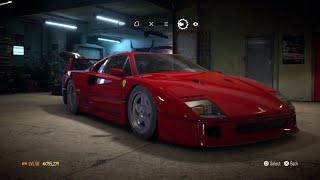 "Need for Speed 2015 - ""Ferrari F40"" - 927 HP Build !!! (Max Grip Settings) (Gameplay)"