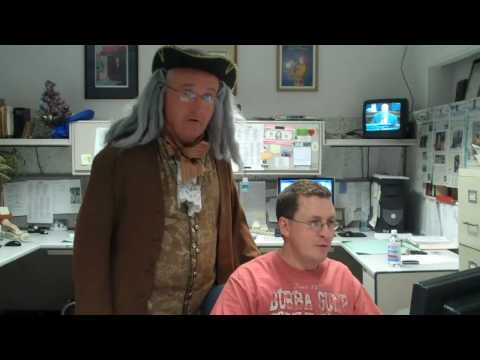 Ben Franklin visits The Saratogian newsroom