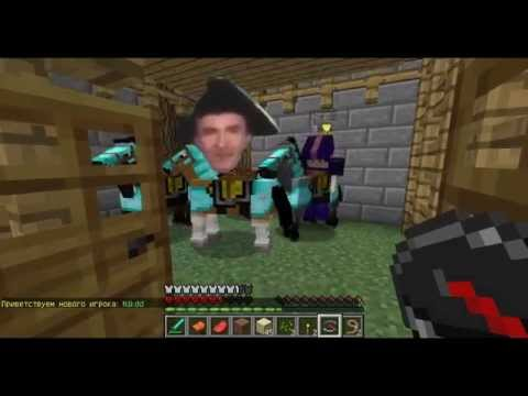 Нуб и лошадь в Minecraft