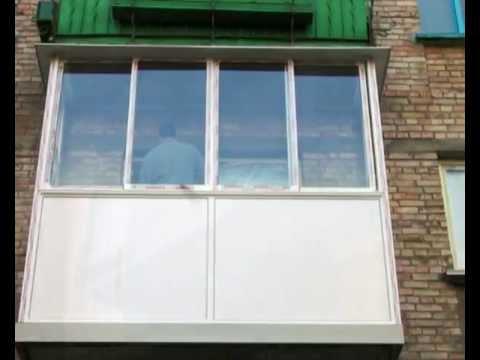 Остекление балкона раздвижными рамами - смотри онлайн бес....
