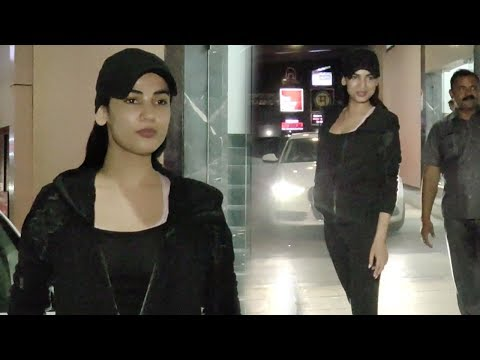 Sonal Chauhan Spotted Outside Her Gym After Workout