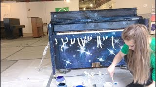 painting a galaxy piano | sing for hope public art