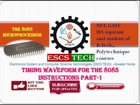 Lec-23  Timing Waveform for the 8085 Instructions Part-1 (hindi)