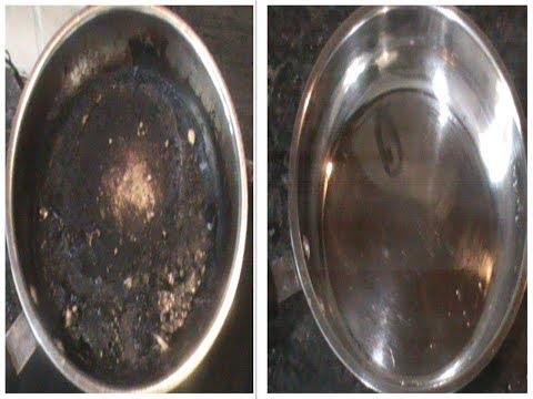 जले हुये बरतन को आसानी से साफ़ करे (Clean burnt pan very easily)
