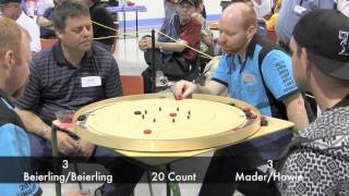Crokinole 2014 World Championships - Beierling/Beierling v Mader/Howie