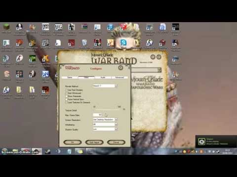Mount And Blade: Warband - How To Increase Framerate (easy)