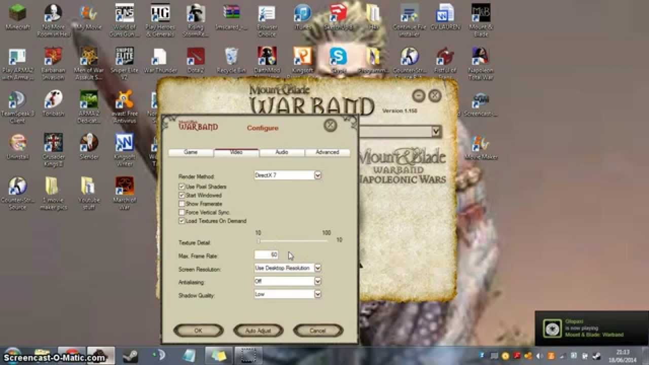 Mount And Blade Warband How To Increase Framerate Easy Youtube