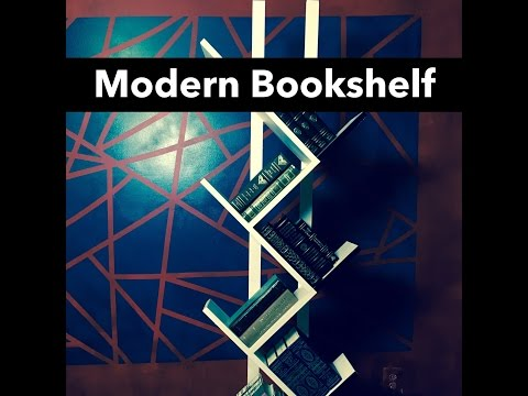 Make a Modern Bookshelf Black and White