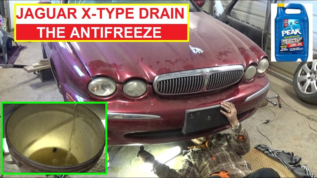 Jaguar X TYPE How To Drain The Coolant / Antifreeze. Jaguar XTYPE X TYPE    YouTube
