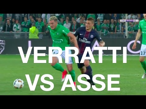 Verratti vs Saint-Etienne (2017) (With Stats)