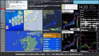 【熊本県熊本地方】 2019年01月26日 14時16分(最大震度5弱)