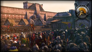 EPIC CASTLE SIEGE! - Medieval Kingdoms Total War 1212 AD Mod Gameplay (TW: ATTILA)