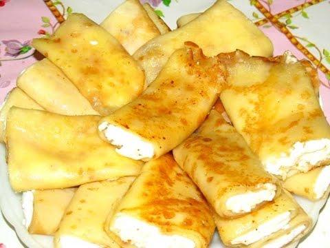 Вкусно - #БЛИНЧИКИ с Творогом #НАЛИСТНИКИ Бабушкин Рецепт очень Вкусных БЛИНЧИКОВ на Молоке