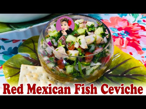 Authentic Red Mexican Fish Ceviche