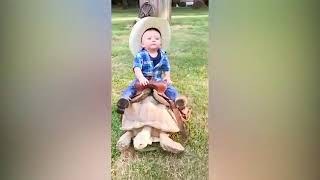Funny Baby and Animals at the Zoo  | Funny Baby Fails Video |( Cute Baby Funny )