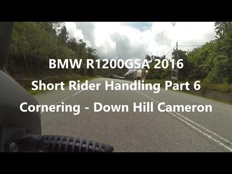 BMW R1200 GSA 2016 -  Short Rider Handling Part 6 - Cornering - Down Hill Cameron