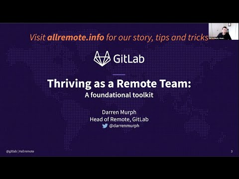 Thriving as a Remote Team with GitLab Head of Remote Darren ...