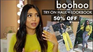 BOOHOO TRY-ON HAUL + LOOKBOOK   50% OFF EVERYTHING!!