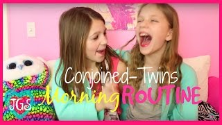 morning routine challenge as conjoined twins   annie and hope jazzygirlstuff