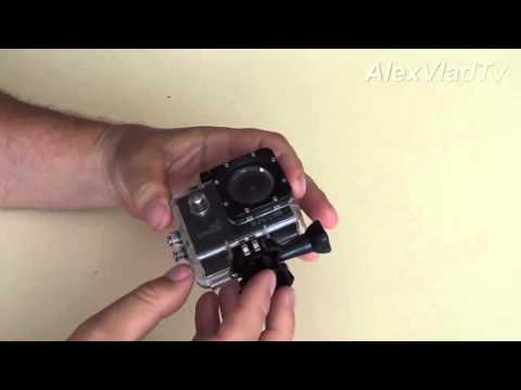 как открыть защитный бокс экшн камеры. Action Camera GoPro3, SJCAM SJ4000.