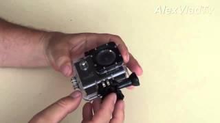 як відкрити захисний бокс екшн камери. Action camera GoPro3, SJCAM SJ4000.