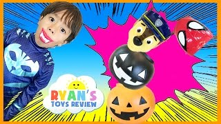 HALLOWEEN SURPRISE PUMPKIN GAME Kids Toys Halloween Surprise Candy Gummy Booger Ryan ToysReview