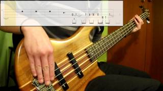Black Sabbath - Falling Off The Edge Of The World (Bass Cover) (Play Along Tabs In Video)