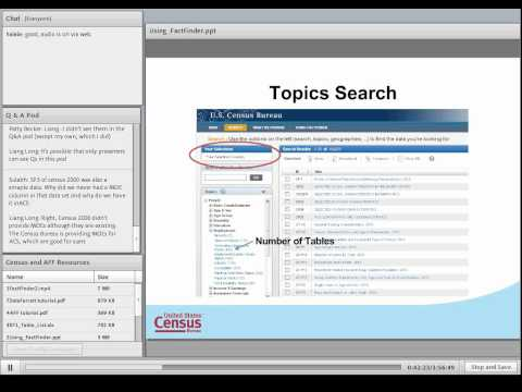 Census Bureau American FactFinder2 Basic Webinar