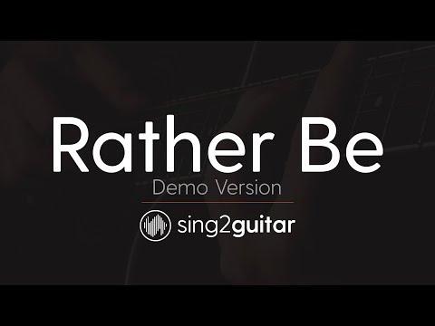 Rather Be (Acoustic Guitar Karaoke demo) Clean Bendit & Jess Glynne