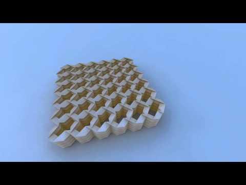 Miura & Tachi Rigid Foldable Cylinder Tessellation - YouTube - photo#9