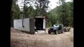 REEFER CONTAINER CABIN HOME IN THE OKANOGAN HIGHLANDS IN  August – A quick update and hello