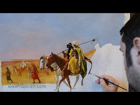 Gerome - Arabs Crossing the Desert | Art Reproduction Oil Painting